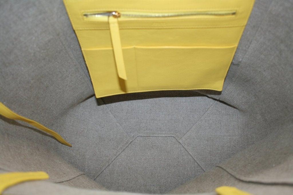 Celine Yellow Leather Cabas Phantom Large Tote 10