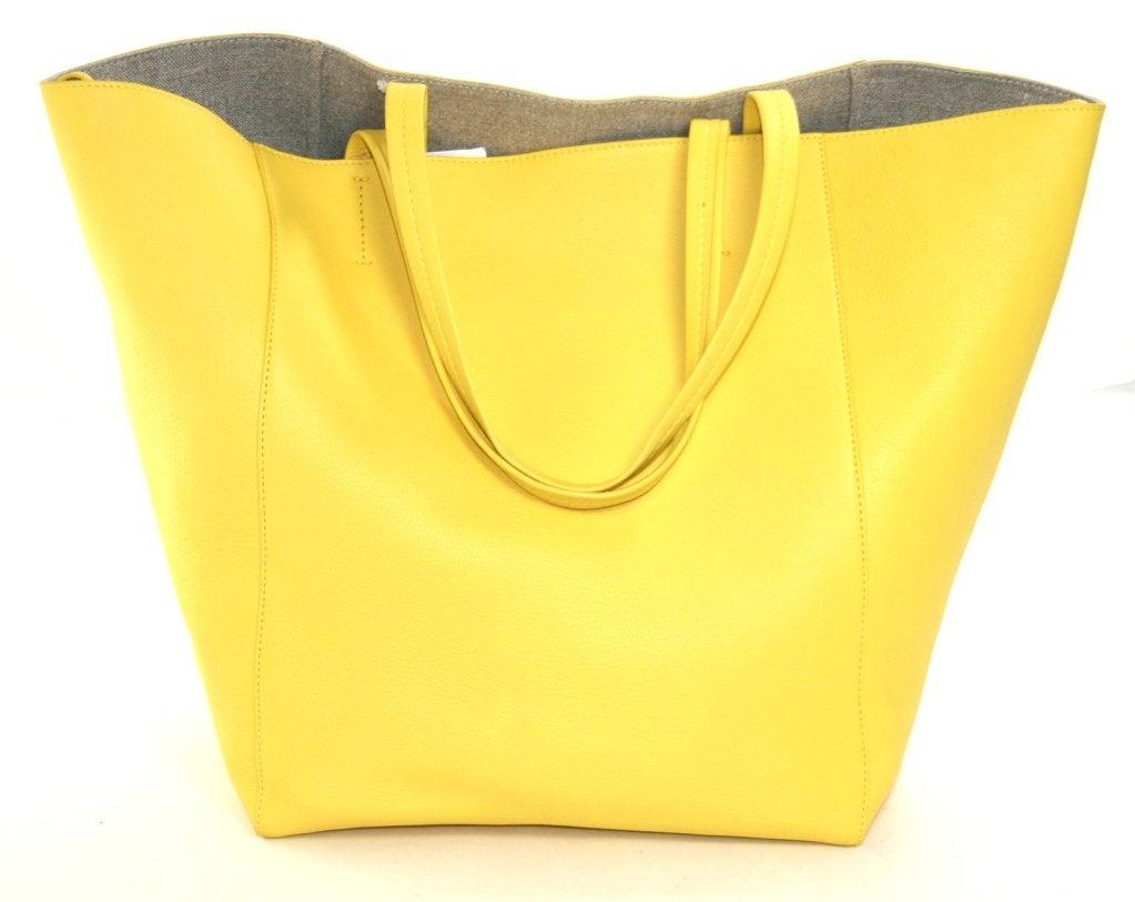 Celine Yellow Leather Cabas Phantom Large Tote 3