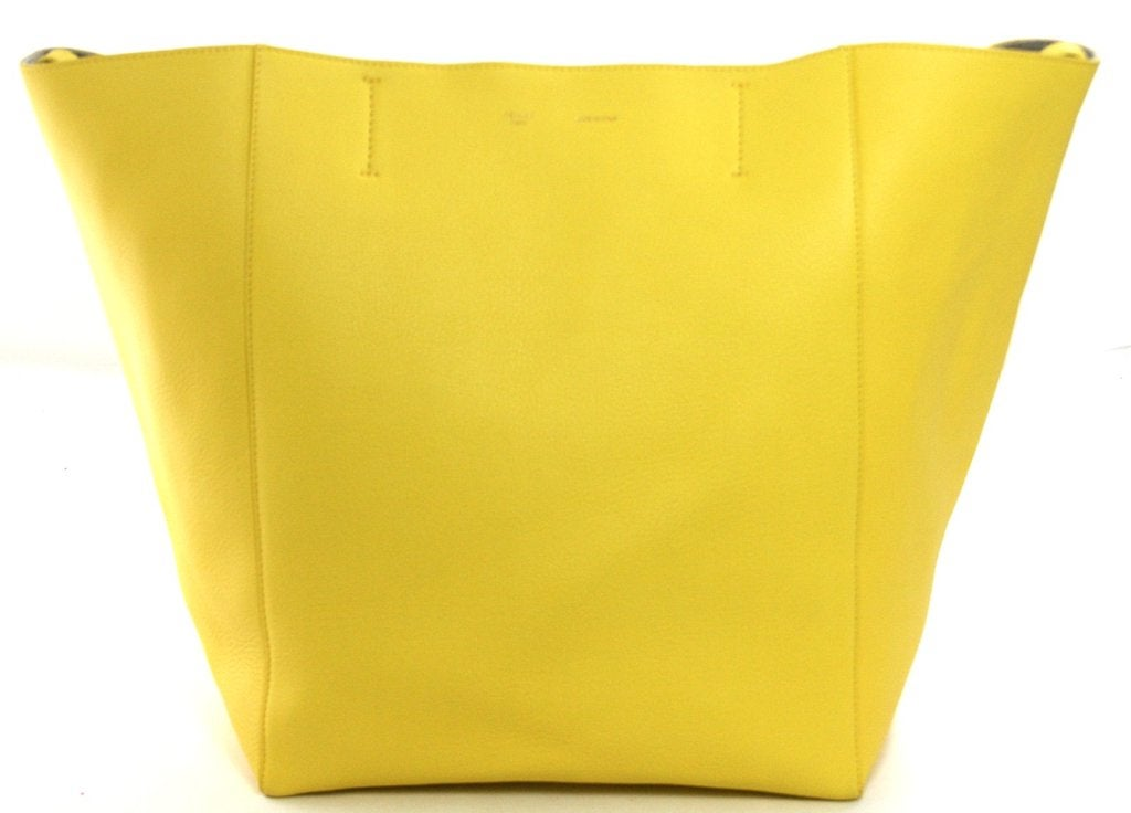 Celine Yellow Leather Cabas Phantom Large Tote 4