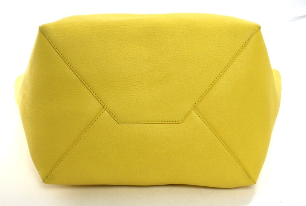 Celine Yellow Leather Cabas Phantom Large Tote 5