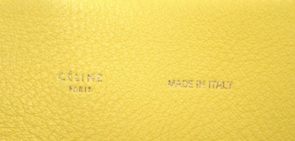 Celine Yellow Leather Cabas Phantom Large Tote 7