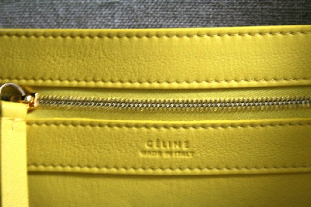 Celine Yellow Leather Cabas Phantom Large Tote 8