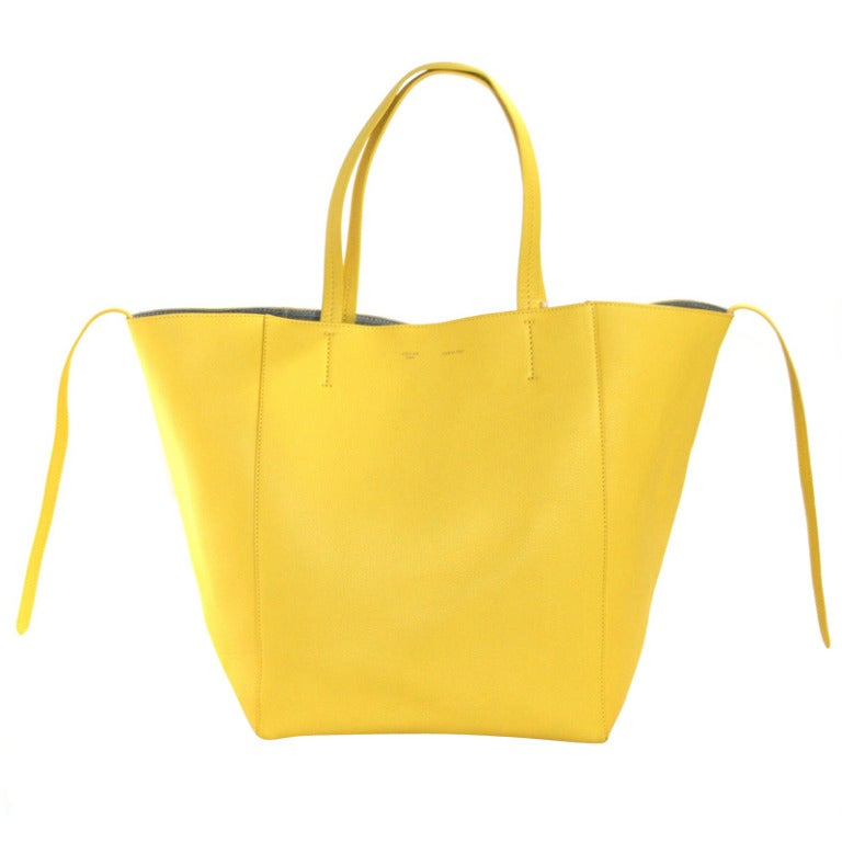 Celine Yellow Leather Cabas Phantom Large Tote 1