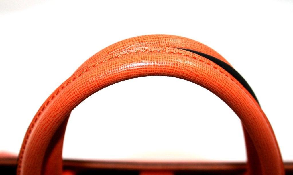 Fendi Orange Leather 2jours Large Shopper 5