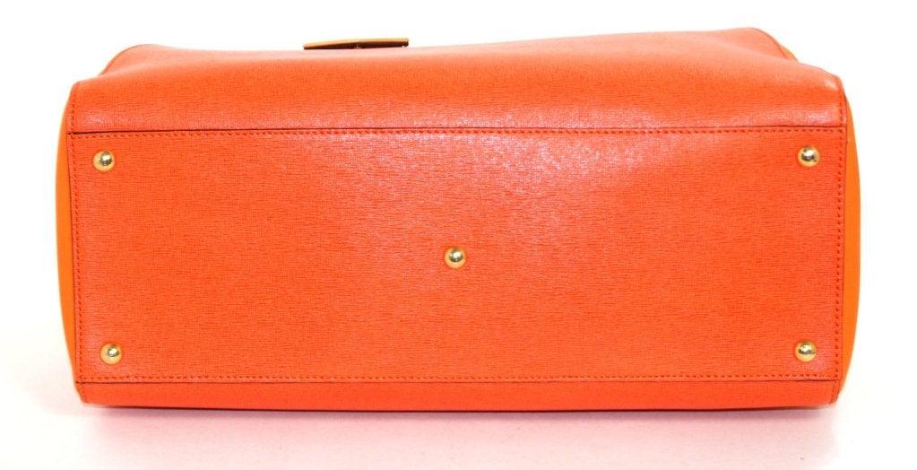 Fendi Orange Leather 2jours Large Shopper 6