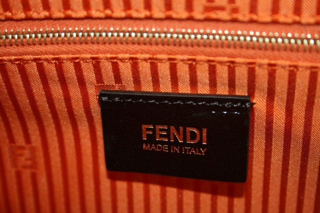 Fendi Orange Leather 2jours Large Shopper 8