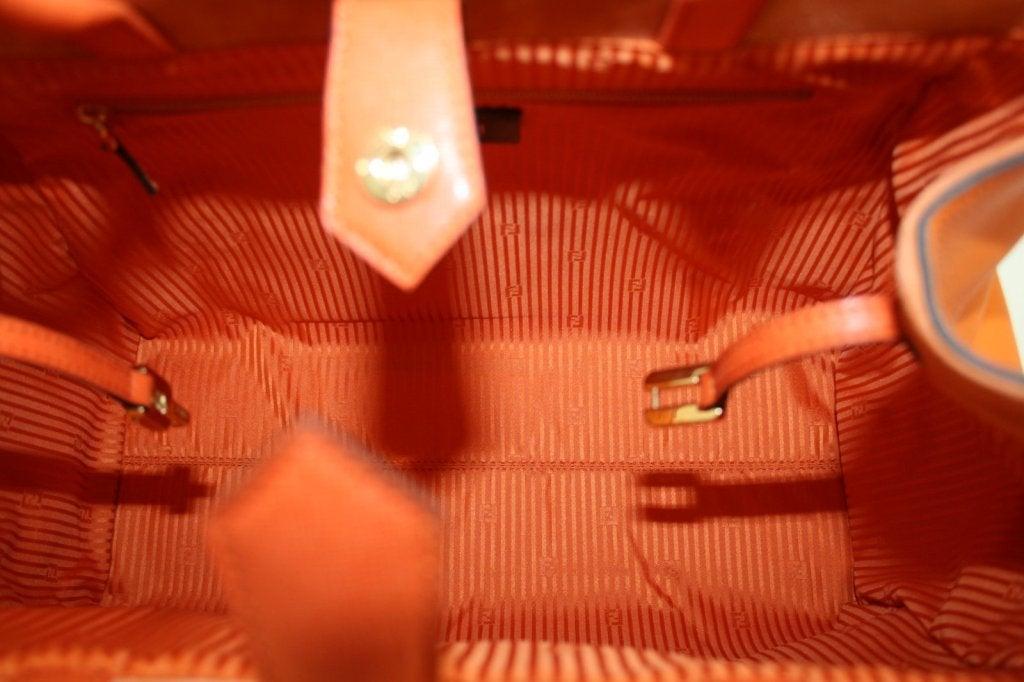 Fendi Orange Leather 2jours Large Shopper 9