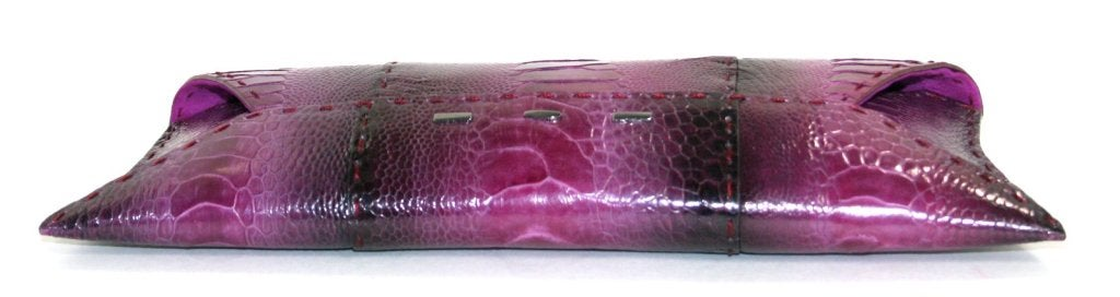 Vbh Purple-Ostrich Leg Clutch 4
