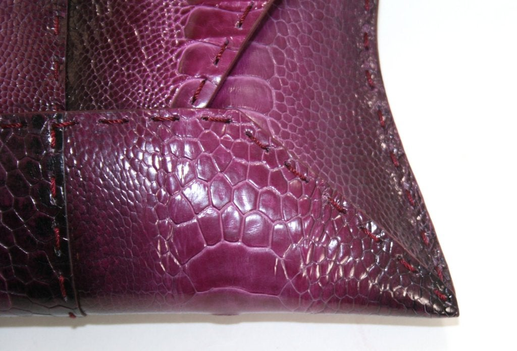 Vbh Purple-Ostrich Leg Clutch 5