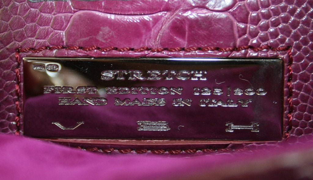 Vbh Purple-Ostrich Leg Clutch 6