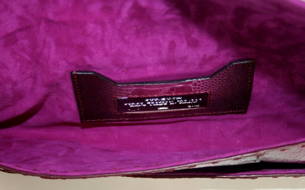 Vbh Purple-Ostrich Leg Clutch 7
