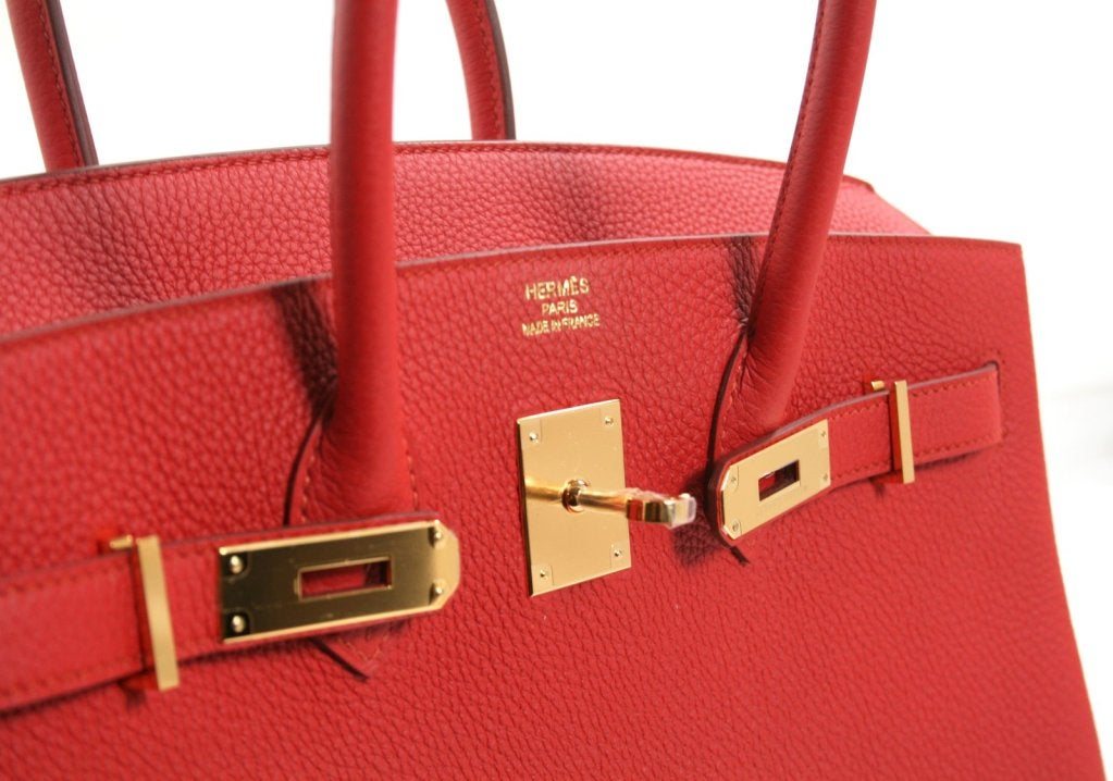 replica hermes purses - Herm��s Vermillion Togo Leather 35 Cm Birkin Bag at 1stdibs