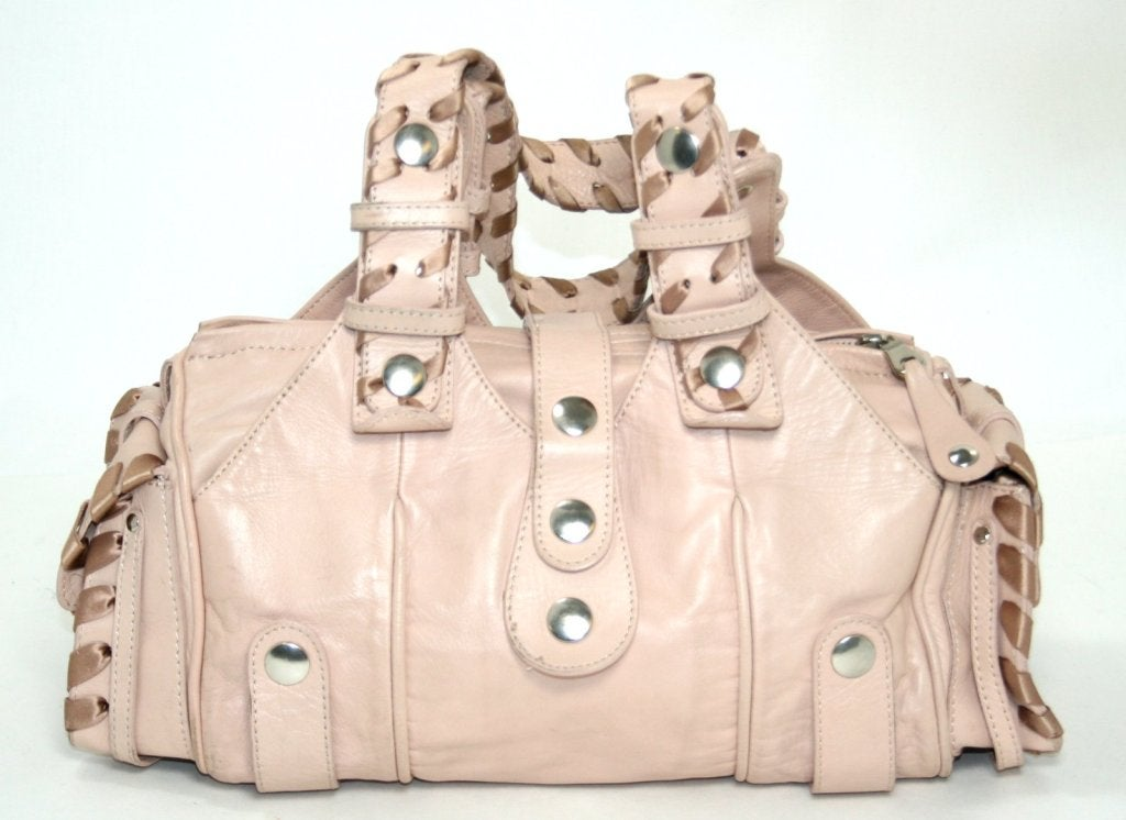 Chloe Pale Pink Leather Medium Silverado Bag at 1stdibs