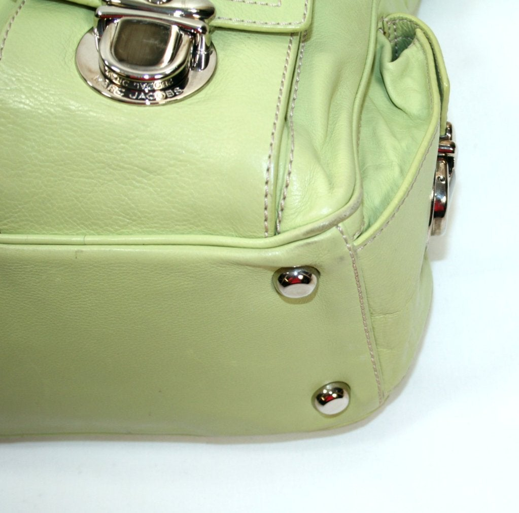 Marc Jacobs Lime Green Leather Blake Hobo At 1stdibs