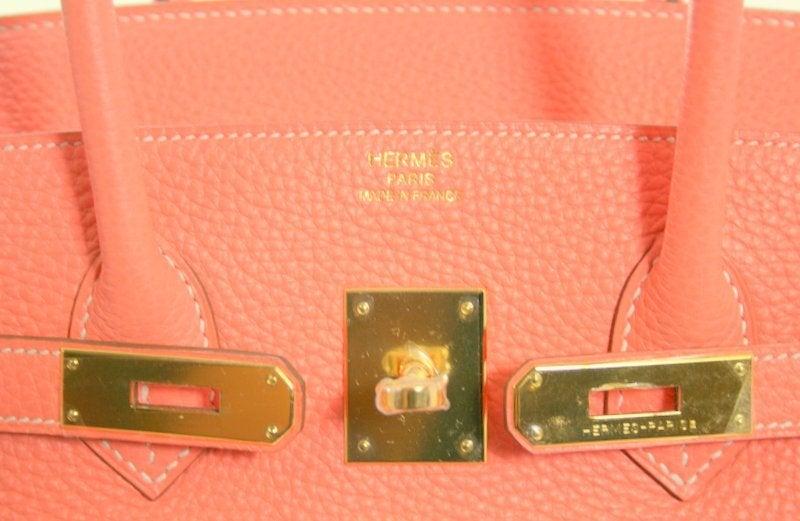 fed67361eb6e hermes crevette togo 35 cm birkin bag- salmon pink color ...