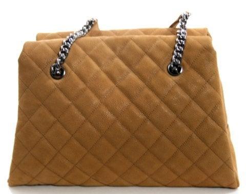 Chanel Beige Caviar Chain Shopping Tote 3