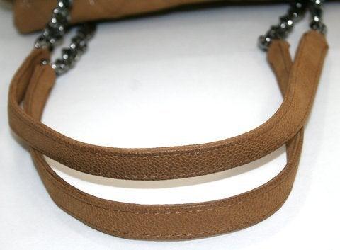 Chanel Beige Caviar Chain Shopping Tote 6
