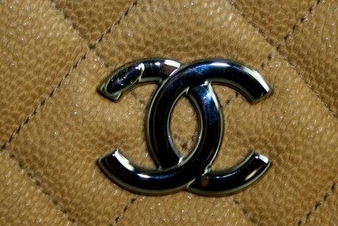 Chanel Beige Caviar Chain Shopping Tote 7