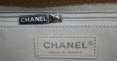 Chanel Beige Caviar Chain Shopping Tote 9