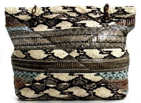 Lanvin Amalia Snakeskin Cabas Tote 3