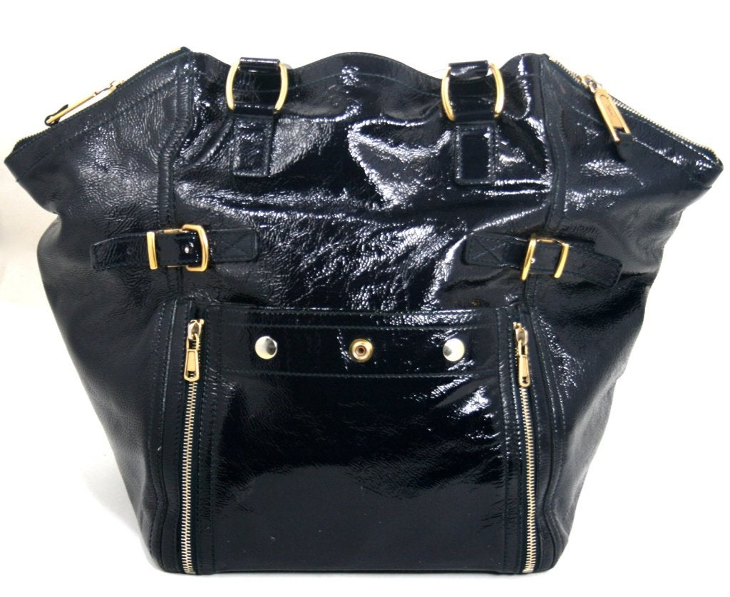 ysl black patent leather bag