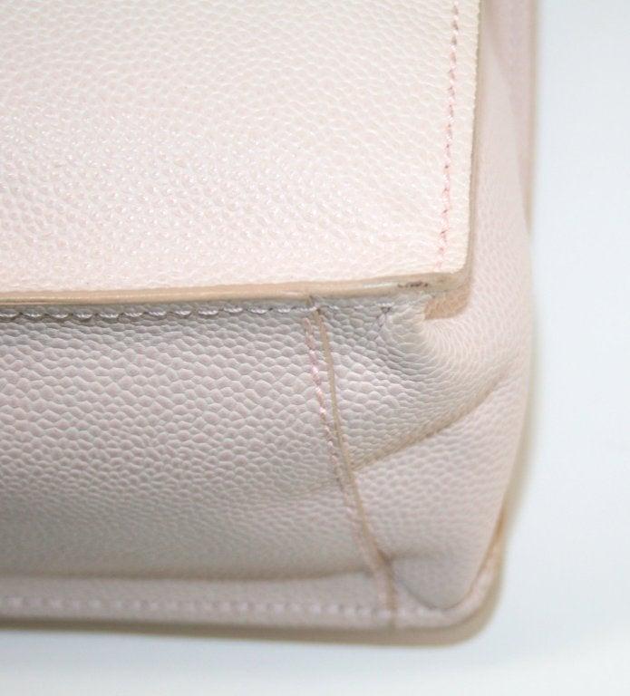Chanel Vintage Cream Caviar Leather Tote 4