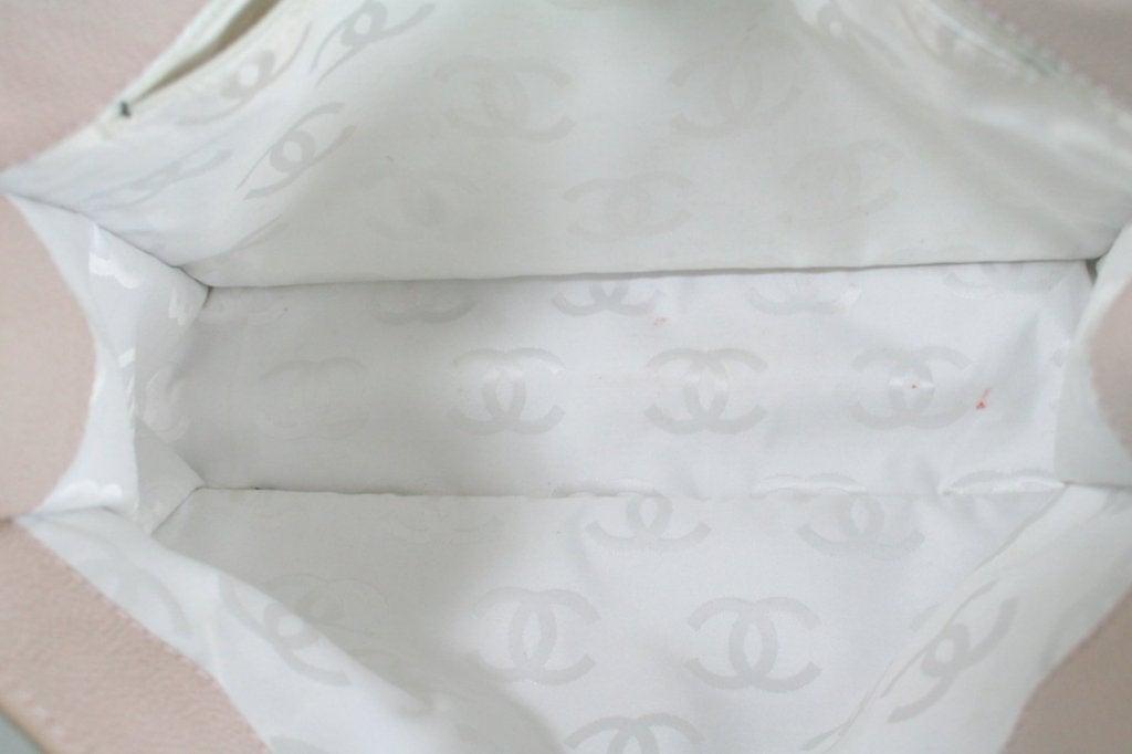 Chanel Vintage Cream Caviar Leather Tote 9