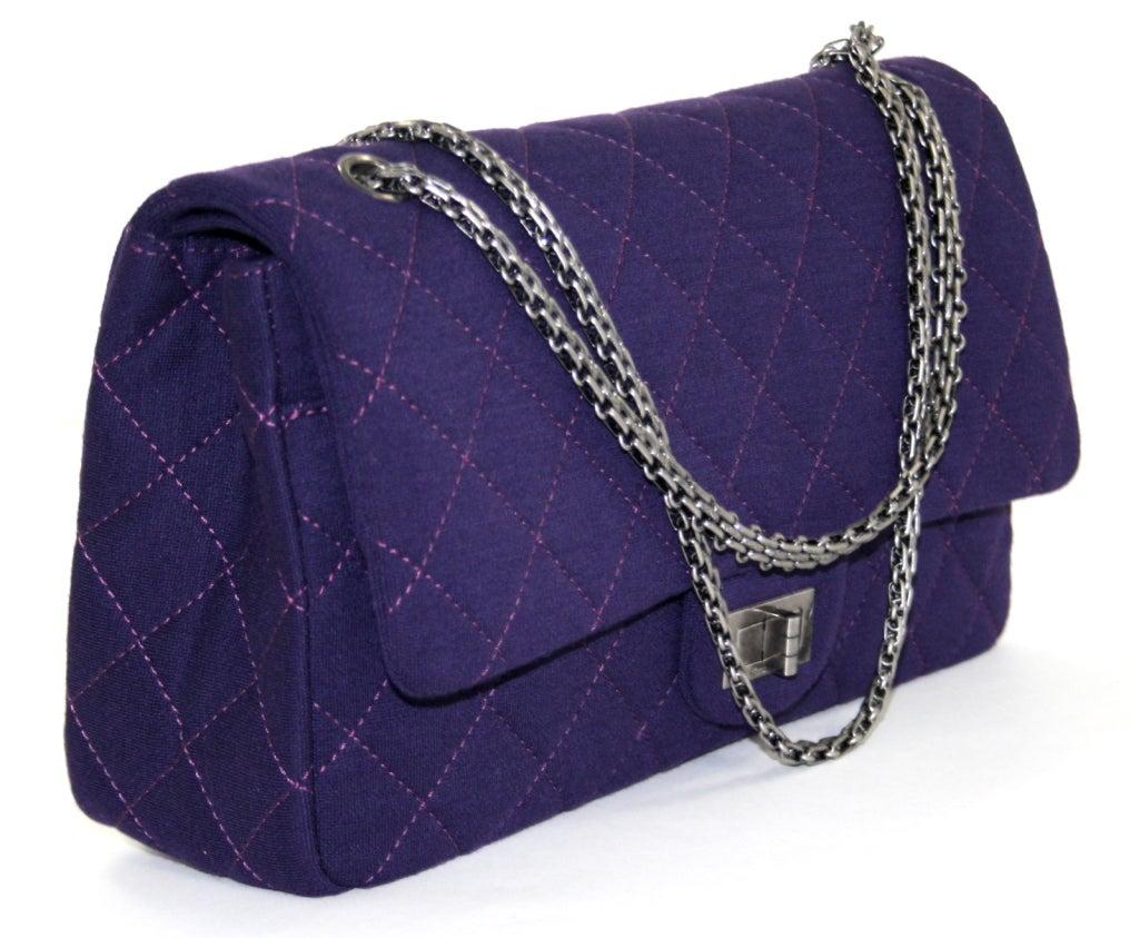 Purple Chanel Bag Bag Chanel Purple Jersey