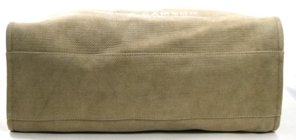 Chanel Tan Canvas XL Cambon Tote 5