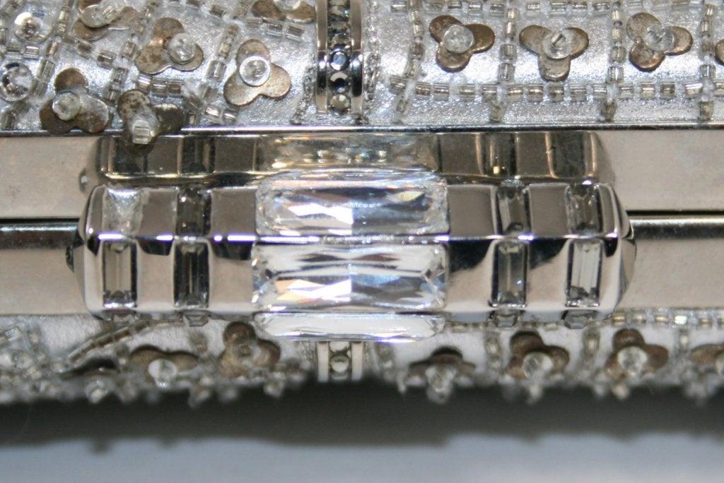 Judith Leiber Silver Crystal Clutch 5