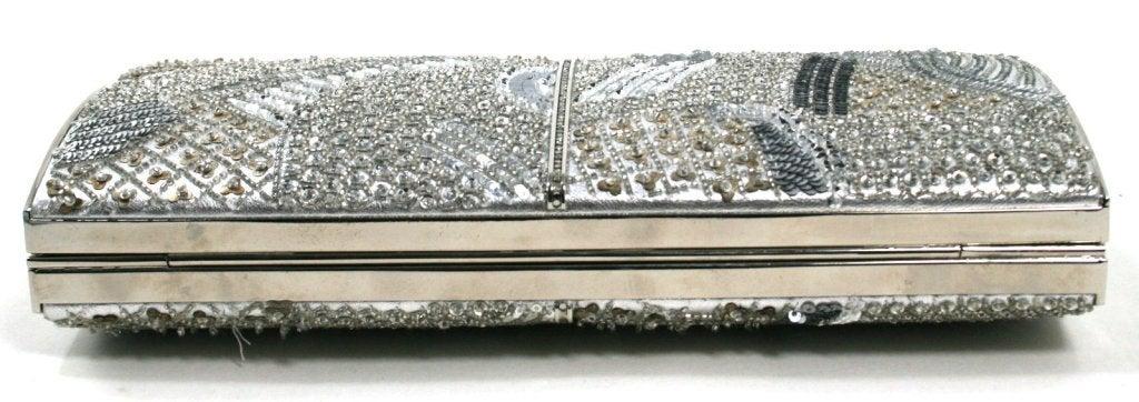 Judith Leiber Silver Crystal Clutch 6