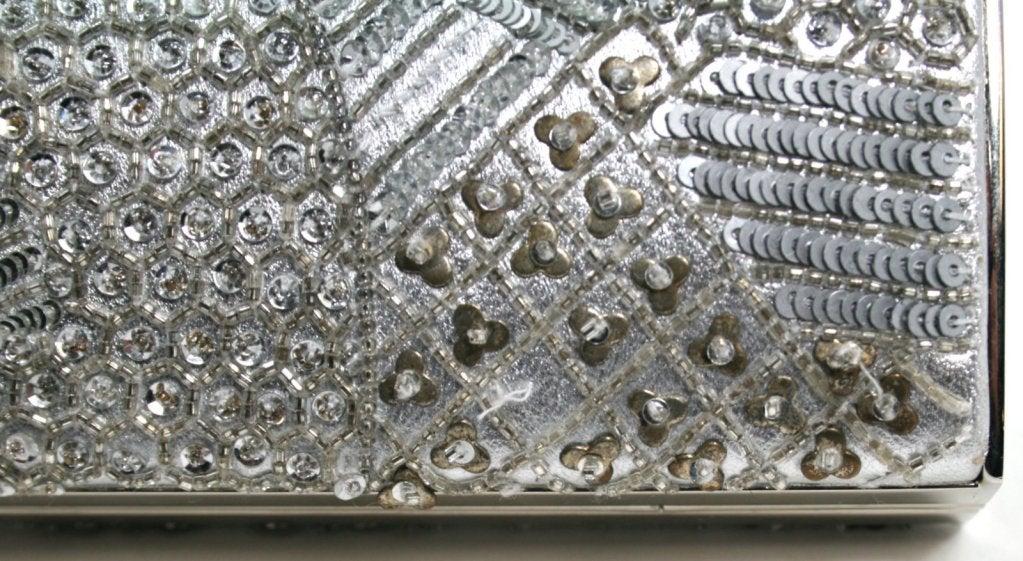 Judith Leiber Silver Crystal Clutch 7