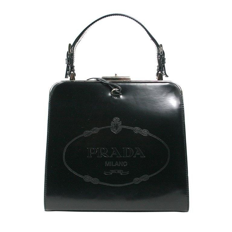 Prada Black Leather Devil Wears Prada Bag at 1stdibs
