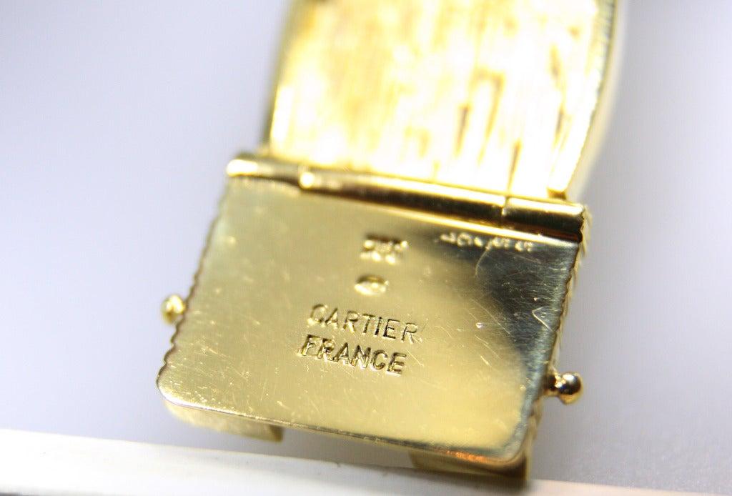 Women's Cartier Wheat Motif 18 Karat Yellow Gold Bracelet For Sale