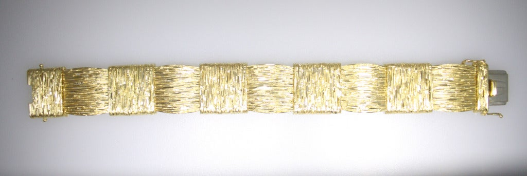 Cartier 18 Karat Yellow Gold Bracelet For Sale 1