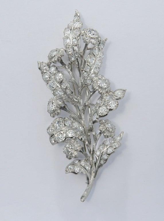 1930s 4 Carat Buccellati Diamond Brooch 5