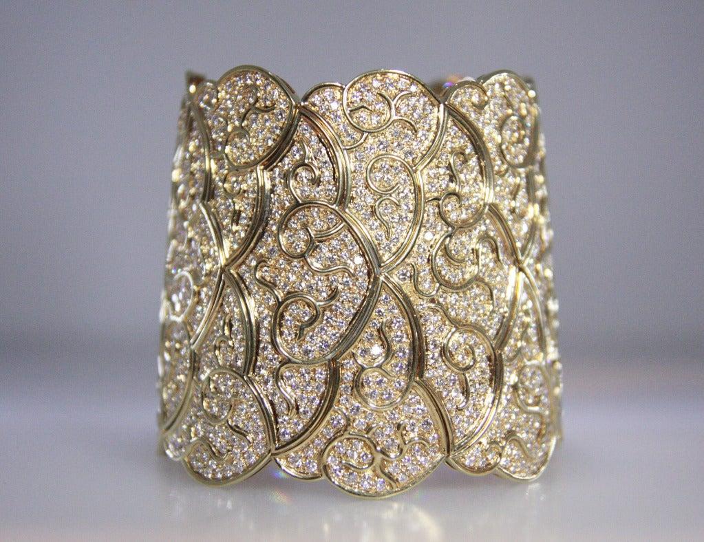 1980's Diamond and Gold Bracelet 3