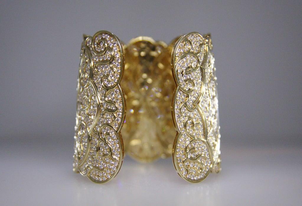1980's Diamond and Gold Bracelet 4