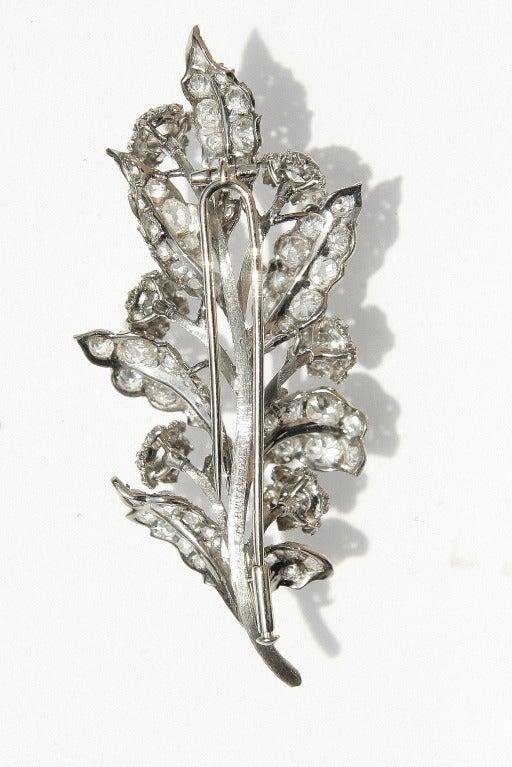 1930s 4 Carat Buccellati Diamond Brooch 6