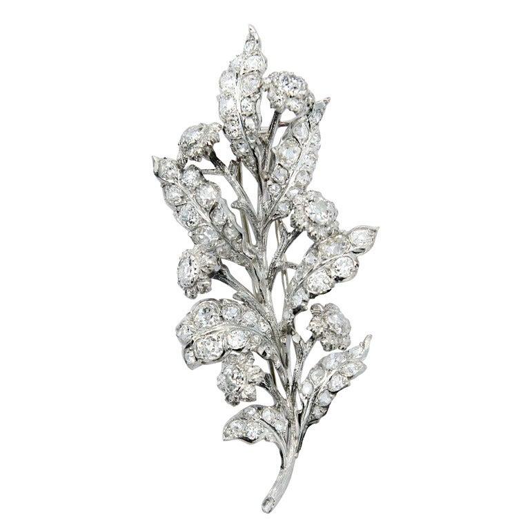 1930s 4 Carat Buccellati Diamond Brooch 1