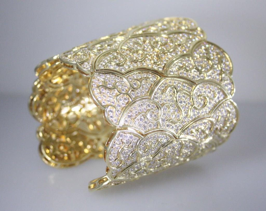 1980's Diamond and Gold Bracelet 7
