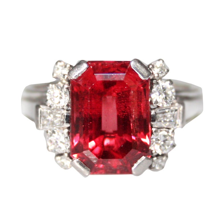 Gubelin Red Spinel Diamond Ring At 1stdibs