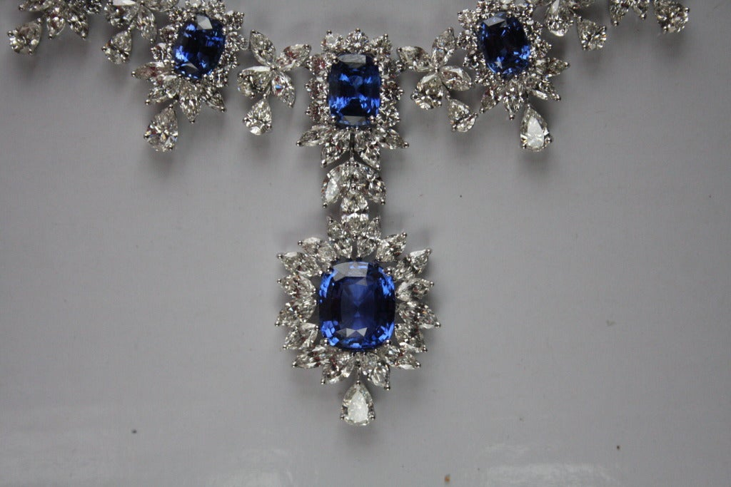 Very Important Sapphire Diamond Necklace At 1stdibs