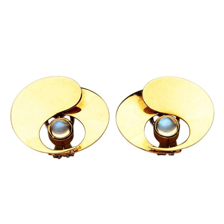 moonstone jewelry gold - photo #14