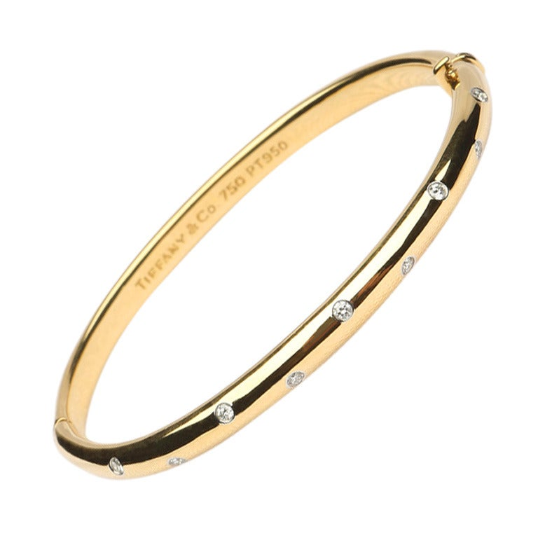Jewelry Bracelets Bangles Tiffany Co Etoile Diamond Bangle Bracelet Id J 124007 Tiffany Bangle Bracelet