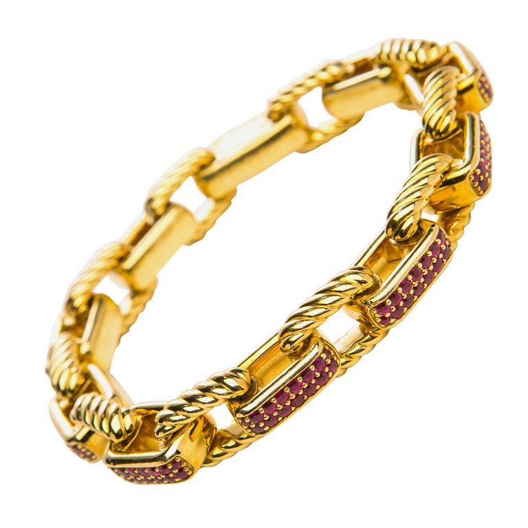 david yurman ruby bracelet at 1stdibs
