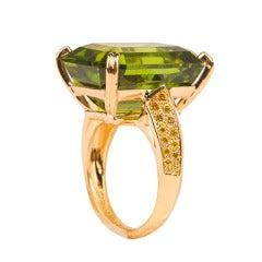 Oscar Heyman Peridot Diamond Ring