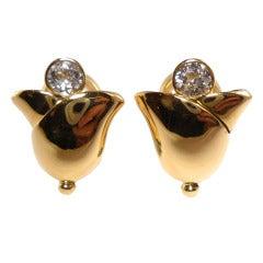 Friedrich Snowdrop Diamond Earclips