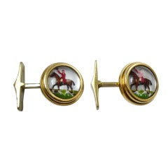 Essex Crystal Fox Hunting Cuff Links