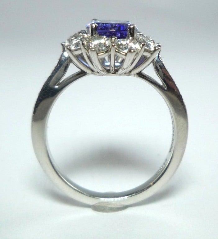 and co tanzanite platinum engagement ring
